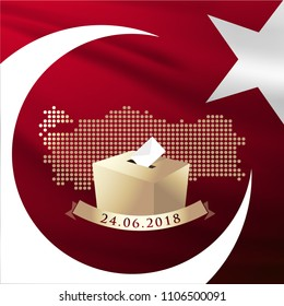 Parliamentary general elections in Turkey 2018. (Turkish: Election 2018)