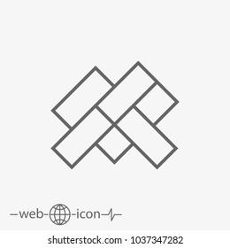 parquet floor vector icon