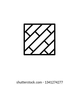 Parquet floor vector icon. Wood floor icon. Simple element illustration from construction tools concept