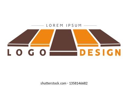 Parquet and flooring logo design