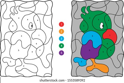 Parrot  Coloring For Kids Education
