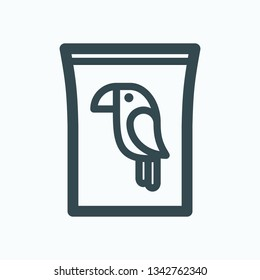 Parrot food isolated icon, food for birds linear vector icon