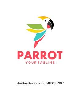 Parrot Logo Design Vector Stock