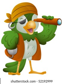 Parrot Pirate - Vector