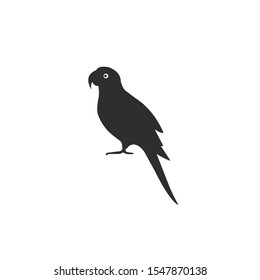 Parrot silhouette vector icon on a white background