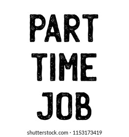 part time job stamp