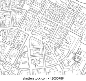 Part of urban plan of a city