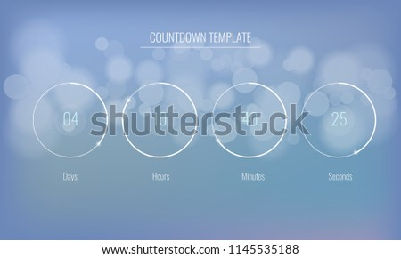 part user interface clock countdown template stock vector royalty