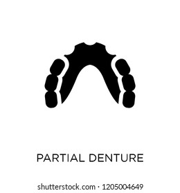 Partial Denture icon. Partial Denture symbol design from Dentist collection. Simple element vector illustration on white background.