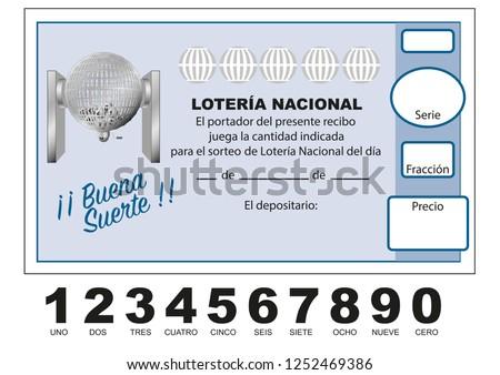 Stock Vektory Na Tema Participacion Loteria Nacional Spanish