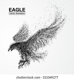 Particle Eagle, vector illustration composition