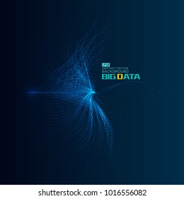Particle flow constructed world big data background, vector network big data background