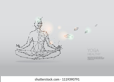The particles, polygonal, geometric art - Yoga