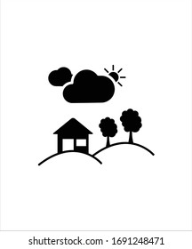 partly cloudy flat icon,vector flat icon.
