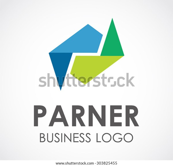 Partnership business connect group abstract vector logo design template community unity company icon corporate identity symbol concept