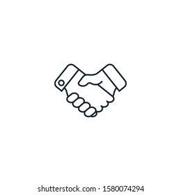 Partnership creative icon. From Entrepreneurship icons collection. Isolated Partnership sign on white background