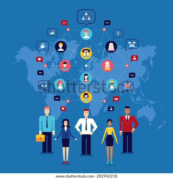 Partnership Teamwork Successful business team Social network and communication concept