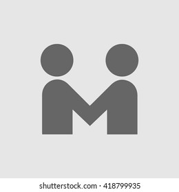 Partnership vector icon. Hands shaking symbol. Handshake logo.