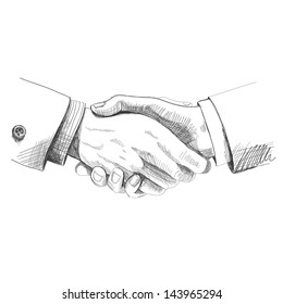 Partneship. Sketch handshake