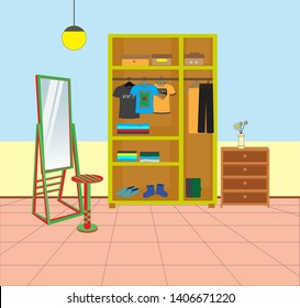 parts of the house, dressing room. keep our clothes tidy