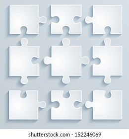 Parts of paper puzzles. Business concept, template, layout, infographics.