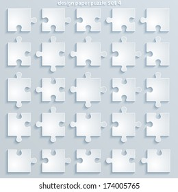 Parts puzzles. Paper square Jigsaw Puzzle Templates