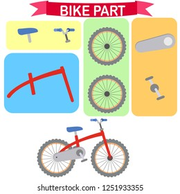 Parts of scooter and bike