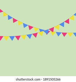 Party Background with Flags Vector EPS 10 green