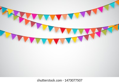 Party Background with Flags.  Vector Illustration. EPS10