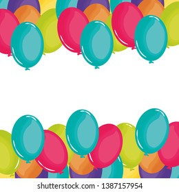 party balloons helium floating frame