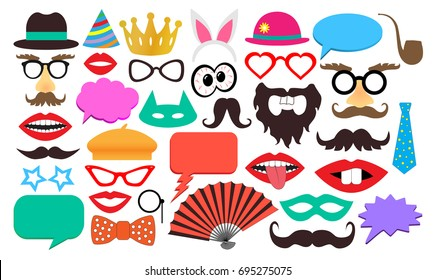 Party birthday photo booth props