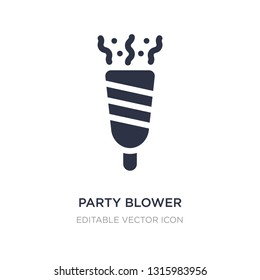 party blower icon on white background. Simple element illustration from Birthday and party concept. party blower icon symbol design.