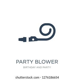 party blower icon vector on white background, party blower trendy filled icons from Birthday and party collection, party blower vector illustration