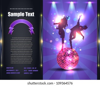 Party Brochure Flyer Vector Template