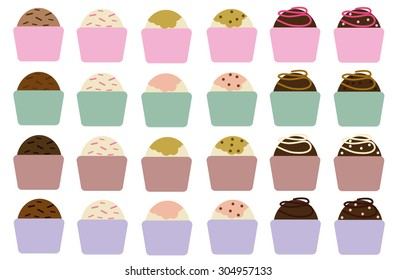 Party Candies Set Vector