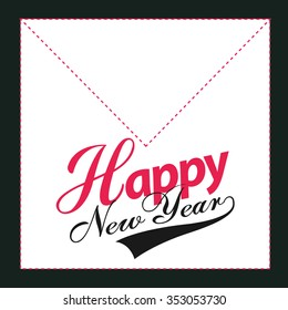 Party Card Happy new year Vector.