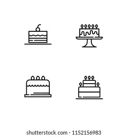 Party, celebration and greetings. Set icon EPS 10 vector format. Professional pixel perfect black & white icons optimized for both large and small resolutions. Transparent background.
