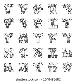 Party and celebration lines pack having different gestures to download and fit in any associated field. Enjoy downloading