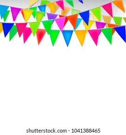 Party color flag Background - Vector Illustration