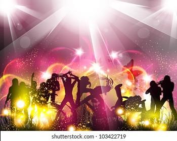 Party color light illustration