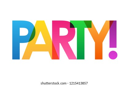 PARTY! colorful letters banner