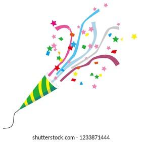 Party cracker clip art