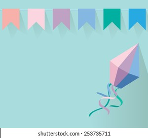 Party decoration vector. Bunting banners.