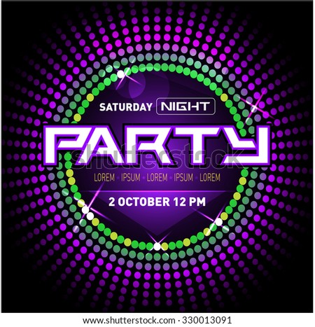party disco club flyer template your のベクター画像素材