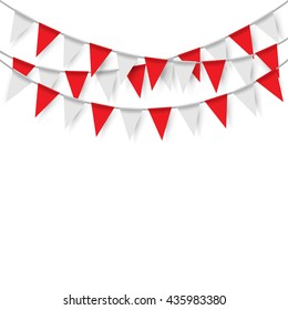 Party flags on white background. Vector