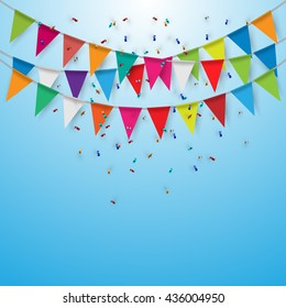 Party flags,Celebrate banner. Vector