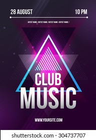 Party Flyer with DJ lineup template for night club.