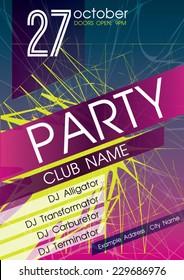 Party Flyer. Nightclub Flyer.