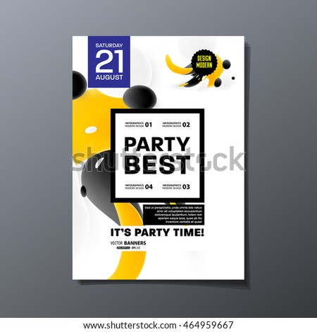 Party Flyer Template Design Vector Illustration Stock Vector