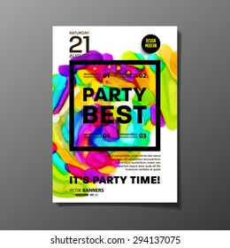 party flyer template vector design abstract stock vector royalty